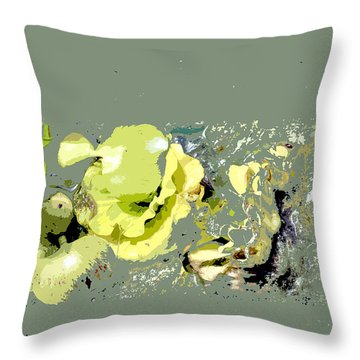 Lily Pads - Deconstructed Throw Pillow