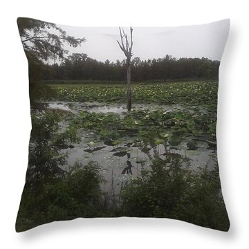 Throw Pillow featuring the photograph Lily Pads by Fortunate Findings Shirley Dickerson