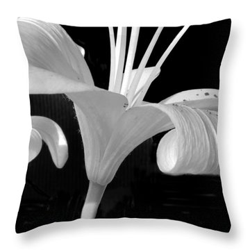 Lily Parts Black And White 2 Throw Pillow