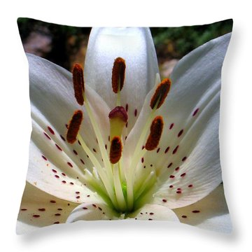 Lily Throw Pillow by Patti Whitten