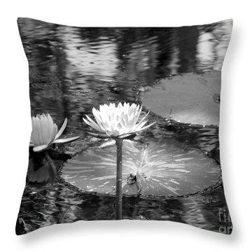 Lily Pond 2 Throw Pillow by Anita Lewis