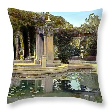 Lily Pond Throw Pillow by Terry Reynoldson