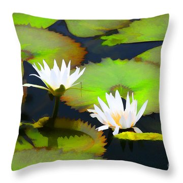 Lily Pond Bristol Rhode Island Throw Pillow