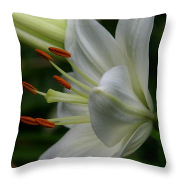 Lily Pure Throw Pillow by Denyse Duhaime
