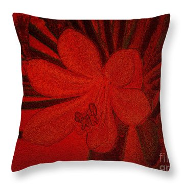 Lily Red Throw Pillow
