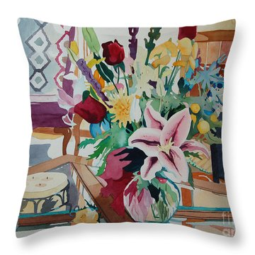 Lily Still Life Throw Pillow