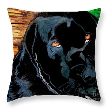 Lily The Dog Throw Pillow