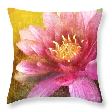 Lily The Pink Throw Pillow by Linde Townsend