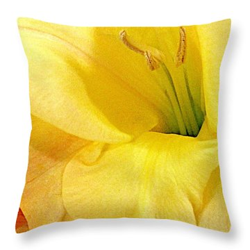 Lily Velour   Throw Pillow