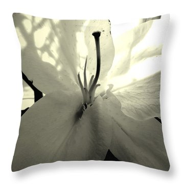Lily White Throw Pillow