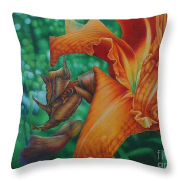 Lily's Evening Throw Pillow