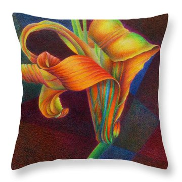 Lily's Rainbow Throw Pillow