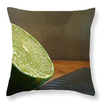 Throw Pillow featuring the photograph Lime Blade by Joe Schofield