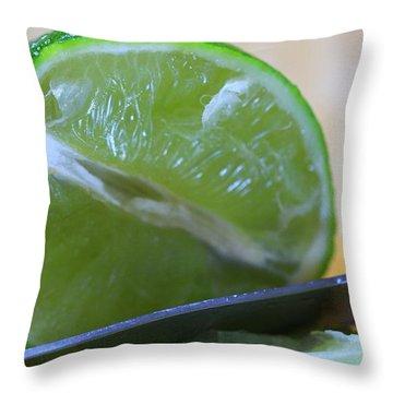 Lime Throw Pillow by Dan Sproul