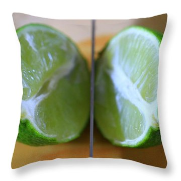 Lime Halves Throw Pillow by Dan Sproul