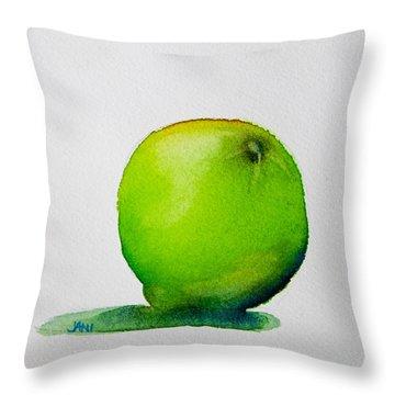 Lime Study Throw Pillow by Jani Freimann