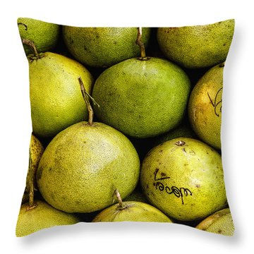 Limes Throw Pillow by Jean Noren