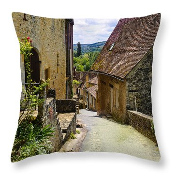 Throw Pillow featuring the photograph Limeuil En Perigord - France by Dany Lison