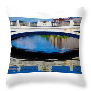 Sean Heuston Dublin Bridge Throw Pillow