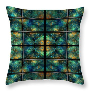 Limitless Night Sky Throw Pillow by Betsy Knapp