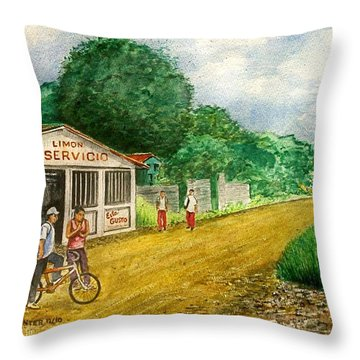 Limon Costa Rica Throw Pillow