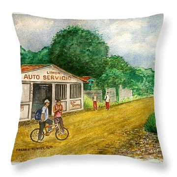 Limon Costa Rica Throw Pillow by Frank Hunter
