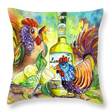 Limoncello Di Sicilia Throw Pillow