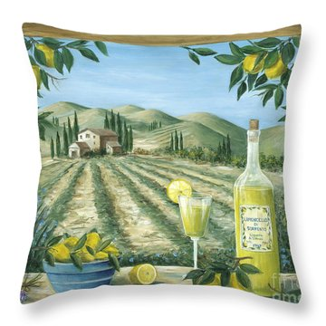 Limoncello Throw Pillow by Marilyn Dunlap