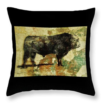 French Limousine Bull 11 Throw Pillow