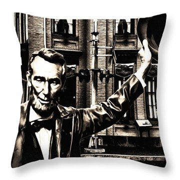 Lincoln Arriving At Gettysburg Throw Pillow