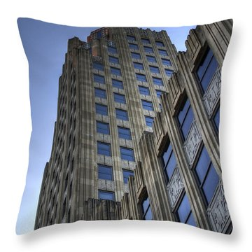Throw Pillow featuring the photograph Lincoln Building by Michael Colgate