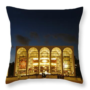 Throw Pillow featuring the photograph Lincoln Center At Night by Yue Wang