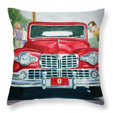 Lincoln In Red Throw Pillow