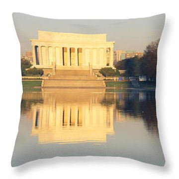 Lincoln Memorial & Reflecting Pool Throw Pillow by Panoramic Images