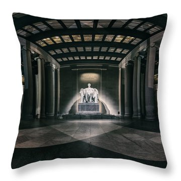 Lincoln Memorial Throw Pillow by Eduard Moldoveanu