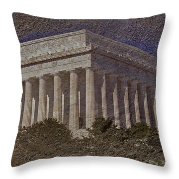 Lincoln Memorial Throw Pillow by Skip Willits