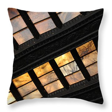 Lincoln Memorial Stained Glass Throw Pillow