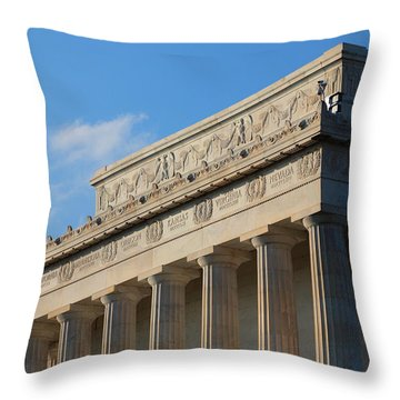Lincoln Memorial - The Details Throw Pillow