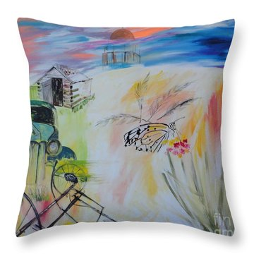 Throw Pillow featuring the painting Lincoln Nebraska by PainterArtist FIN