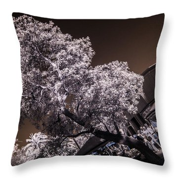 Lincoln Road Tree Throw Pillow