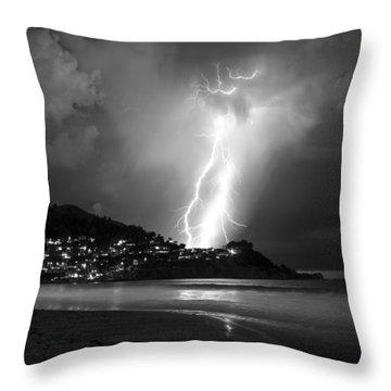 Linda Mar Lightning Throw Pillow