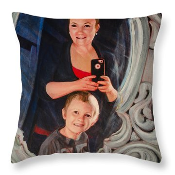 Lindsey And Braxton Selfie Portrait Throw Pillow