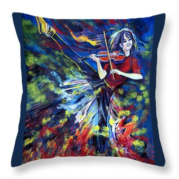 Lindsey Stirling. Dancing Violinist Throw Pillow