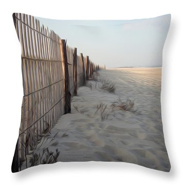 Throw Pillow featuring the digital art Line In The Sand by Kelvin Booker