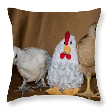 Line-up  Who Did It? Throw Pillow by Donna Brown