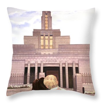 Line Upon Line Throw Pillow by Jane Autry