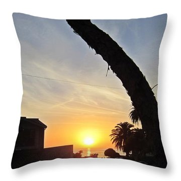 Linear Clouds  Throw Pillow