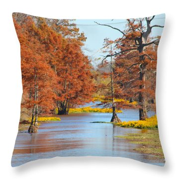 Lined In Yellow Throw Pillow
