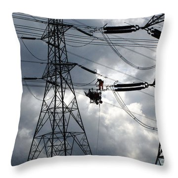 Lineman Throw Pillow by John Chatterley