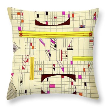 Lines And Brackets Throw Pillow